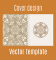 cover design with round mandala pattern vector image