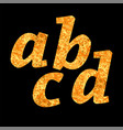 yellow letters of alphabet vector image