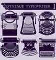Vintage typewriter I vector image