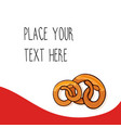 Red template with pretzels vector image