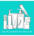 set of cosmetics for skin care vector image