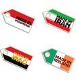 label Made in Indonesia Iran Iraq Ireland vector image