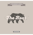 The Bear Vintage trend Logo with Effects Scratches vector image