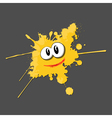 Yellow ink cartoon vector image