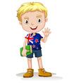 NewZealand boy carrying a book vector image