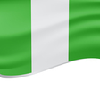 Waving flag of Nigeria isolated on white vector image
