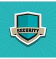 Security system shield concept warning vector image