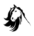 Head of the cute horse vector image