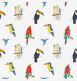 beautiful tropical seamless pattern with different vector image