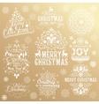 Big set of Christmas calligraphic design elements vector image