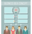 Business Idea Infographics vector image