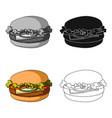 cheeseburger single icon in cartoon style vector image