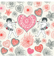 Cupid love background vector image
