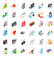 design icons set isometric style vector image