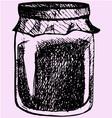 jam glass jar vector image