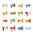 megaphone loud speaker icons set flat style vector image