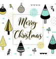 merry christmas greeting card geometric abstract vector image