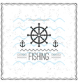 Print on t shirt design with a textured marine vector image