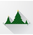 simple christmas tree background vector image