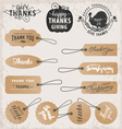 Thanksgiving Day Design Elements and Gift Tags vector image