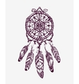 Ethnic dream catcher with feathers American vector image vector image
