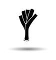 Leek onion icon vector image