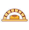 bread oven icon cartoon style vector image