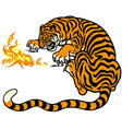 tiger with fire vector image