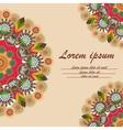 Greeting card with ornament mandala vector image vector image