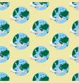 airplane and earth pattern vector image