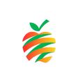 apple fruit abstract ribbon fresh logo vector image