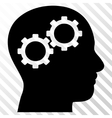 Brain Gears Icon vector image