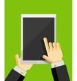 Business man using tablet Flat ui design vector image