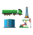 Oil extraction transportation vector image