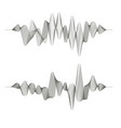 two music sound wave patterns vector image