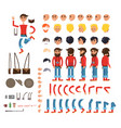 photographer character flat collection on white vector image vector image