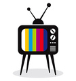 Retro TV set icon vector image vector image