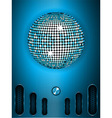 Disco ball with dial on blue metallic portrait vector image vector image