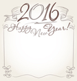 2016 and Happy New Year words vector image vector image