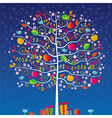Magic tree night vector image