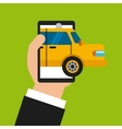 taxi online design vector image