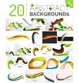 Motion concept abstract background set vector image vector image