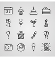 Birthday Icons Set vector image