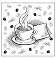 cup of coffee doodle vector image