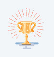 flat trophy gold cup vector image