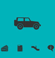 jeep travel icon flat vector image