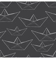 paper ship pattern vector image