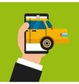 taxi online design vector image