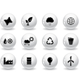 Web buttons environment icons vector image