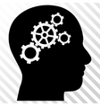 Brain Gears Icon vector image